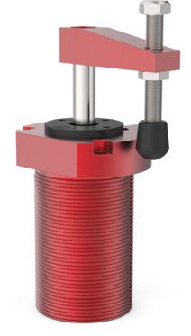 Destaco's 8215 Series threaded body, pneumatic swing clamps feature bodies for mounting, a tapered piston rod, and are designed to be sensor ready.