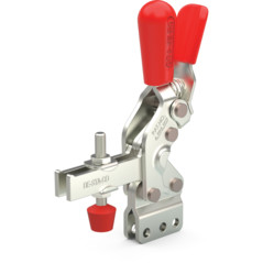 Steel toggle clamp with 3 times the capacity of our legacy models with a longer handle with greater hand clearance, Toggle Lock Plus capability, and straight base with U-bar.