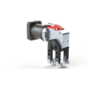 This enclosed, modular mini-clamp has a high power-to-weight ratio and is a highly versatile gripper that can be configured for many different applications.