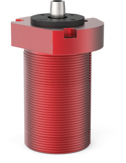 Destaco's 8216-LA Series threaded body, pneumatic swing clamps feature bodies for mounting, a tapered piston rod, and are designed without a clamping arm.