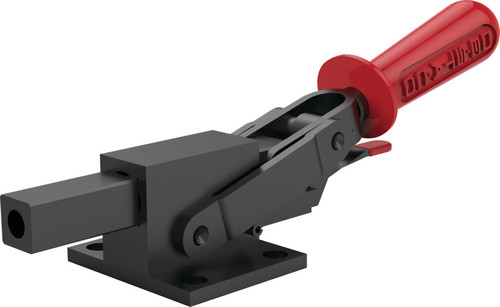 Destaco's 5150 Series heavy-duty, straight line action clamps with flange base feature reverse action, hardened steel pivot pins and bushings, and Toggle Lock Plus capability.