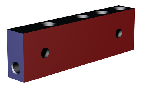 Destaco's CPI-MMB-3V1B-AB Series block mounted manifolds feature an aluminum design.