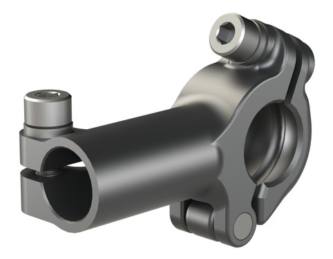 Destaco's TCL-32B Series of lightweight T-clamps with removable caps connects a tube to a 32mm ball mount at a 90 degree angle.