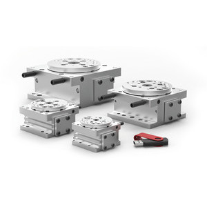 Destaco's DRF Series of rotary actuators are designed for applications that require product loading, part orientation, and heavy payloads in compact spaces.