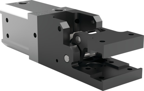 Destaco's 84L3-21 Series medium-duty, modular cam-style pressroom gripper is non-locking and can be used vertically or horizontally.