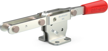 Destaco's 301 Series pull action latch clamps feature fixed stop capability to automatically limit handle travel at various clamping positions.