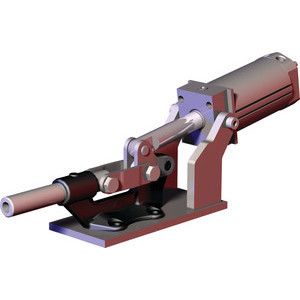 Destaco's 850 Series pneumatic toggle clamps feature hardened pins/bushing at all pivot points for long lifecycle, is sensor ready for round or T-slot style sensors, and boast a large clamping arm that can be easily modified to suit your application.