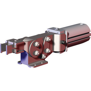 Destaco's 8021 and 8071 Series pneumatic toggle clamps feature enclosed design for dirty environments such as spot and MIG welding and non-pivoting cylinder that can be hard-piped into fixtures.