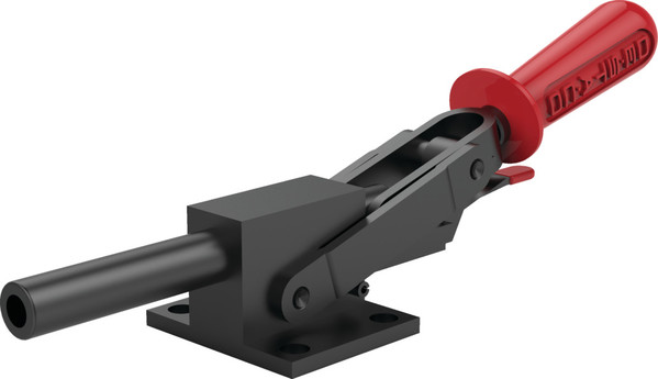 Destaco's 5133 Series heavy-duty, straight line action clamps with flange base feature reverse action, hardened steel pivot pins and bushings, and Toggle Lock Plus capability.