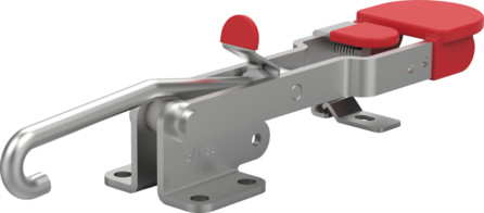 Destaco's 371-R Series pull action latch clamps are equipped with patented thumb control lever for one handed operation.