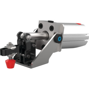 Destaco's 802 Series pneumatic toggle clamps feature sensor ready for round or T-slot style sensors and are the pneumatic versions of Model 202-U.