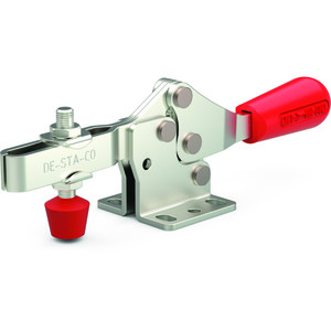 Destaco's 217 Series horizontal hold down clamps feature a low profile, large handle clearance in the open position, and availability in stainless steel.