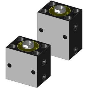 Hydraulic double acting block cylinders are particularly suited for applications requiring frequent cycles and rapid stroke speeds.