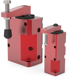 Destaco's 8100 and 8300 Series block style, pneumatic swing clamps utilize proven, reliable designs that are useful in a wide variety of applications – including welding and assembly.