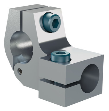 Destaco's CPI-TCA-30M-25M Series of cross-bar T-clamps connect a 30 mm tube to a 25 mm tube.