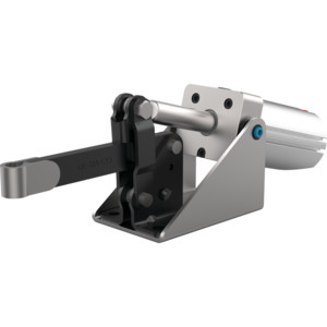 Destaco's 810 Series pneumatic toggle clamps feature sensor ready for round or T-slot style sensors and built-in flow restriction that eliminates the need for external flow controls.