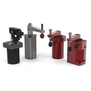 Destaco Pneumatic Swing Clamps provide quick swing-and-clamp movement for increased productivity. These clamps are intended for quick clamping in secondary manufacturing operations.