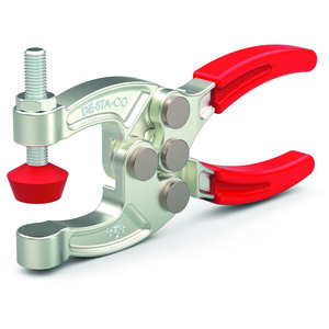 Destaco's 424 and 441 Series squeeze action plier clamps are compact, forged with alloy steel construction for high strength, and can be supplied with two adjustable spindles.