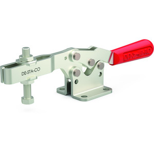 Destaco's 235 Series horizontal hold down clamps feature a low profile, availability in stainless steel models, and optional Destaco® Toggle Lock Plus.