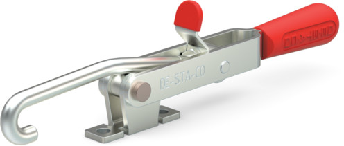 Destaco's 351-B Series pull action latch clamps are equipped with patented thumb control lever for one handed operation, threaded J-hook, and narrow base.