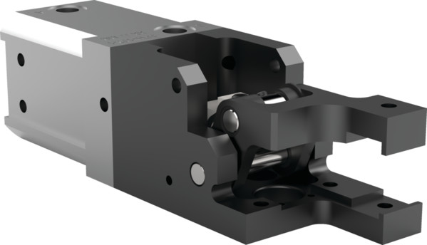 Destaco's 84L3-26 Series medium-duty, modular cam-style pressroom gripper is non-locking and can be used vertically or horizontally.