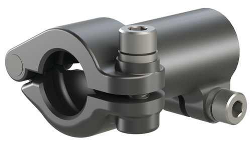 Destaco's TCL-32B-90 Series of T-clamps with removable caps connects a tube to a 32mm ball mount at a 90 degree angle.