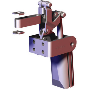 Destaco's 817 and 827 Series pneumatic toggle clamps feature dual mounting surfaces for maximum flexibility, built-in flow restriction that eliminates the need for external flow controls, and is sensor ready for round or T-slot style sensors.