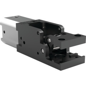 This light-duty, modular cam-style pressroom gripper is non-locking and can be used vertically or horizontally.
