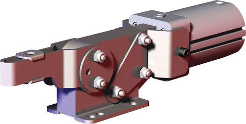 Destaco's 8071 Series pneumatic toggle clamps feature enclosed design for dirty environments such as spot and MIG welding, non-pivoting cylinder that can be hard-piped into fixtures, and are sensor ready for round or T-slot style sensors.