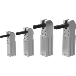 Destaco's 81L Series pneumatic power clamps are designed for assembly, fixture checking, and handling systems applications.