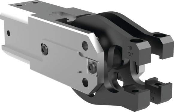 Destaco's 84A2-13 Series light-duty, modular cam-style pressroom gripper is self-locking and can be used vertically or horizontally.