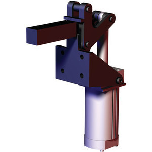 Destaco's 868 Series pneumatic toggle clamps feature hardened pins/bushing at all pivot points for long lifecycle, is sensor ready for round or T-slot style sensors, and boast a large clamping arm that can be easily modified to suit your application.