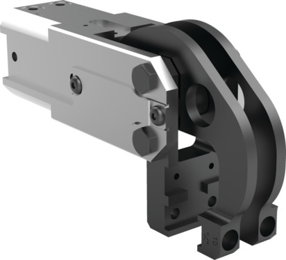 Destaco's 84A2-12 Series light-duty, modular cam-style pressroom gripper is self-locking and can be used vertically or horizontally.