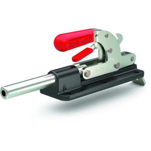 Destaco's 640 Series straight line action clamps are designed for heavy duty push/pull clamping, handle rotation and fall below the mounting plane to lock in retracted position, and are available with Destaco® Toggle Lock Plus.