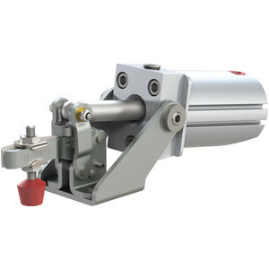 Destaco Pneumatic Toggle Clamps utilize the same basic design and operation as manual hold-down or straight-line toggle clamps, but are operated pneumatically.