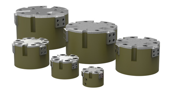 Destaco's RPC-344 Series of 3 jaw, parallel grippers are designed for self-centering with a very high grip force.