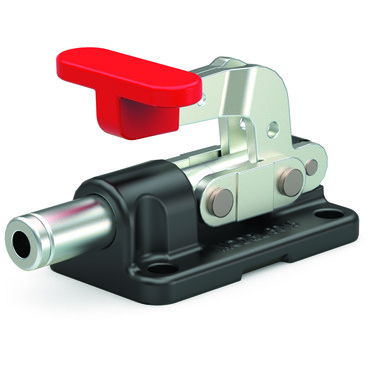 Destaco's 6015-M Series straight line action clamps are the smallest of the solid base straight line action clamps. They feature a compact design combined with high holding capacity and allow the handle to fall below the mounting plane to then lock in retracted position.