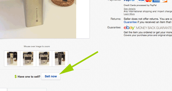 Clicking the link will pre-fill some item information for you