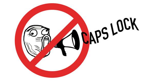 Caps Lock e comunicação
