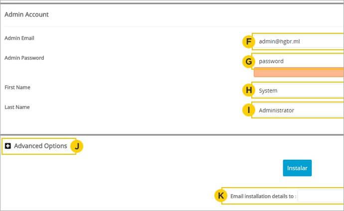 Configuração de Instalação PrestaShop