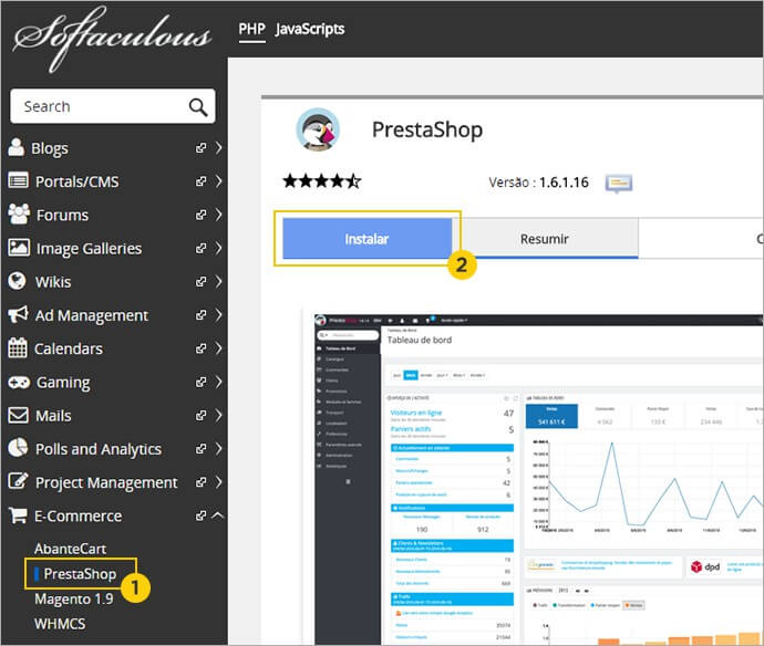 Instalação PrestaShop