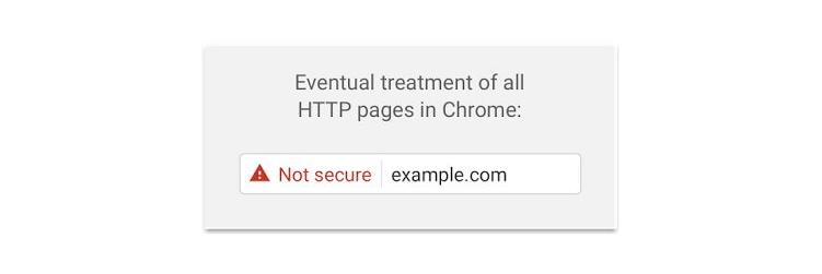 Atualização do Google Chrome: Aviso de site inseguro