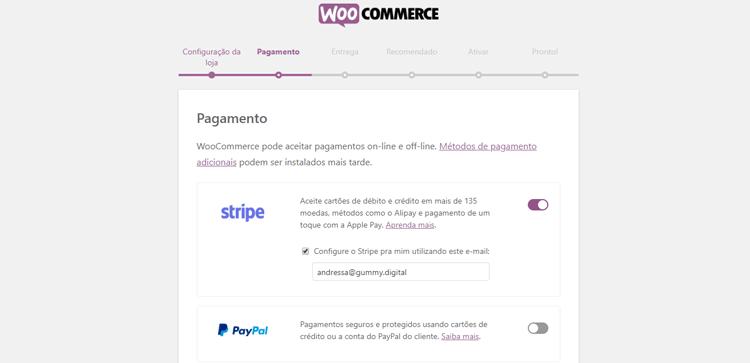 loja virtual com woocommerce passo 4