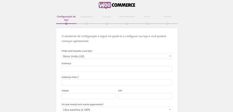loja virtual com woocommerce passo 3