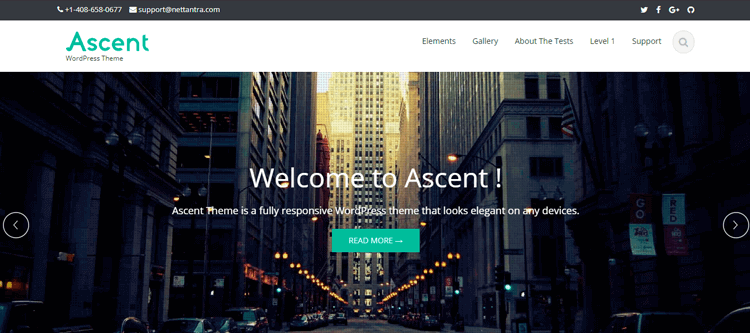Template WordPress Ascent