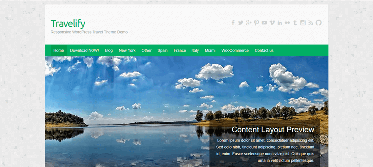 Template WordPress Travelify