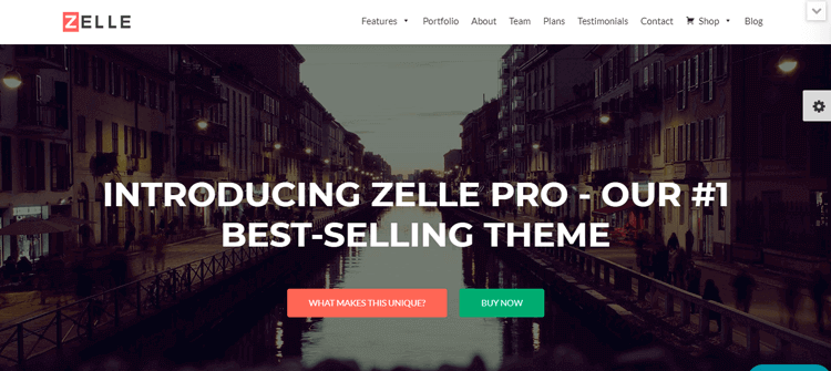 Template WordPress Zelle
