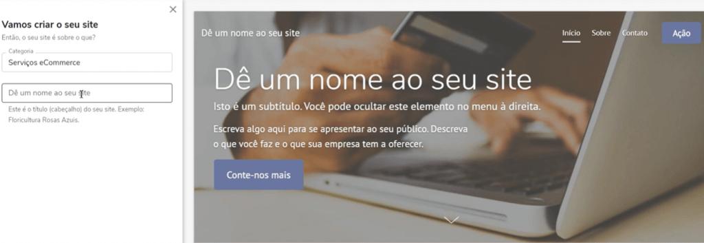 Configurações para criar site web