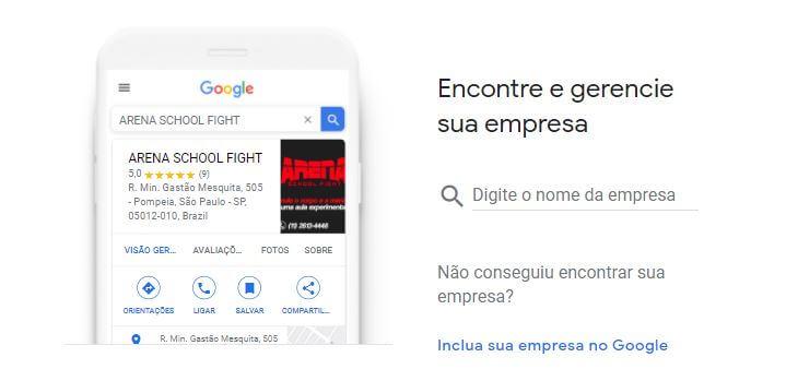 Crie uma conta no Google Meu Negócio