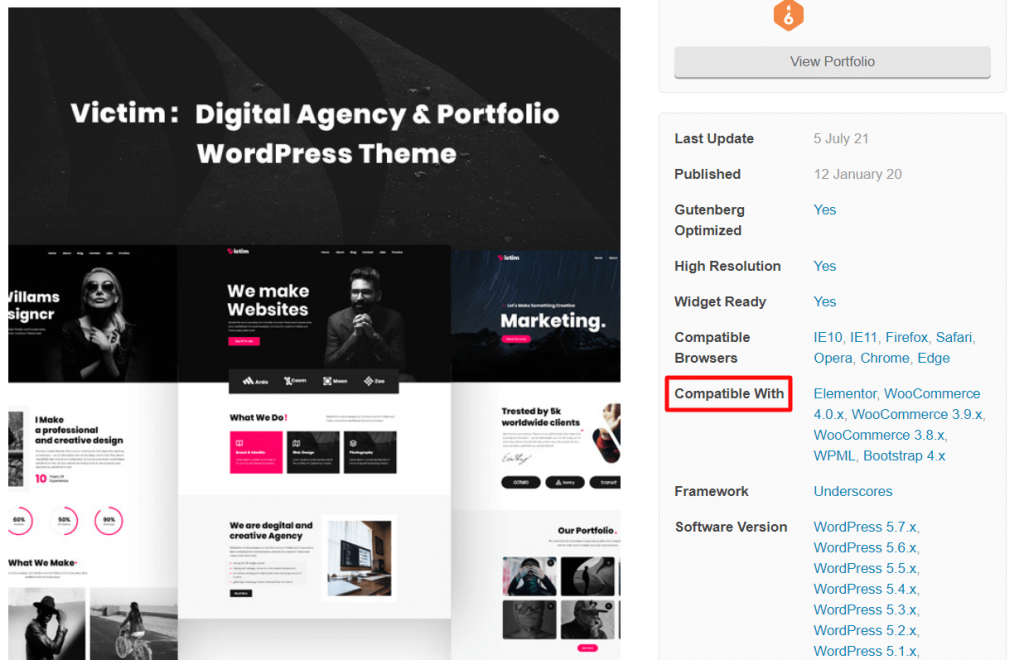 Confirmar caracteristicas de um tema do WordPress